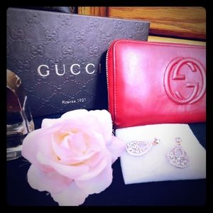 Gucci Red Clutch/Wallet